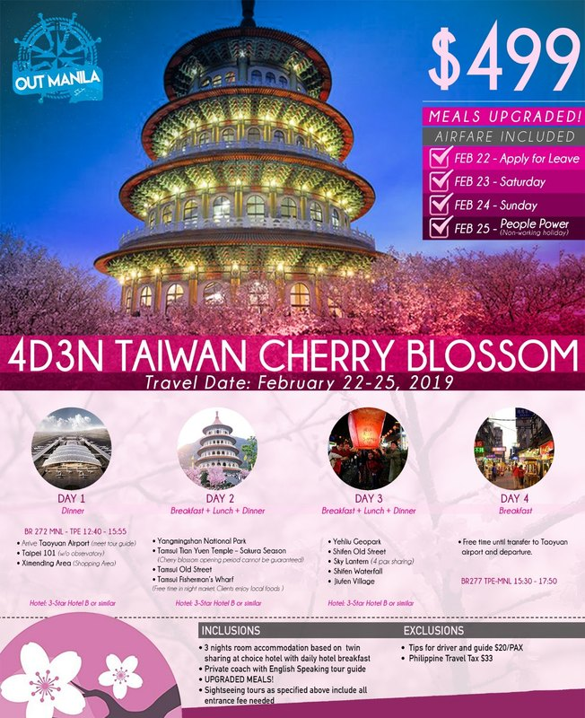 4 days 3 nights Taiwan tour 2019 Flyer
