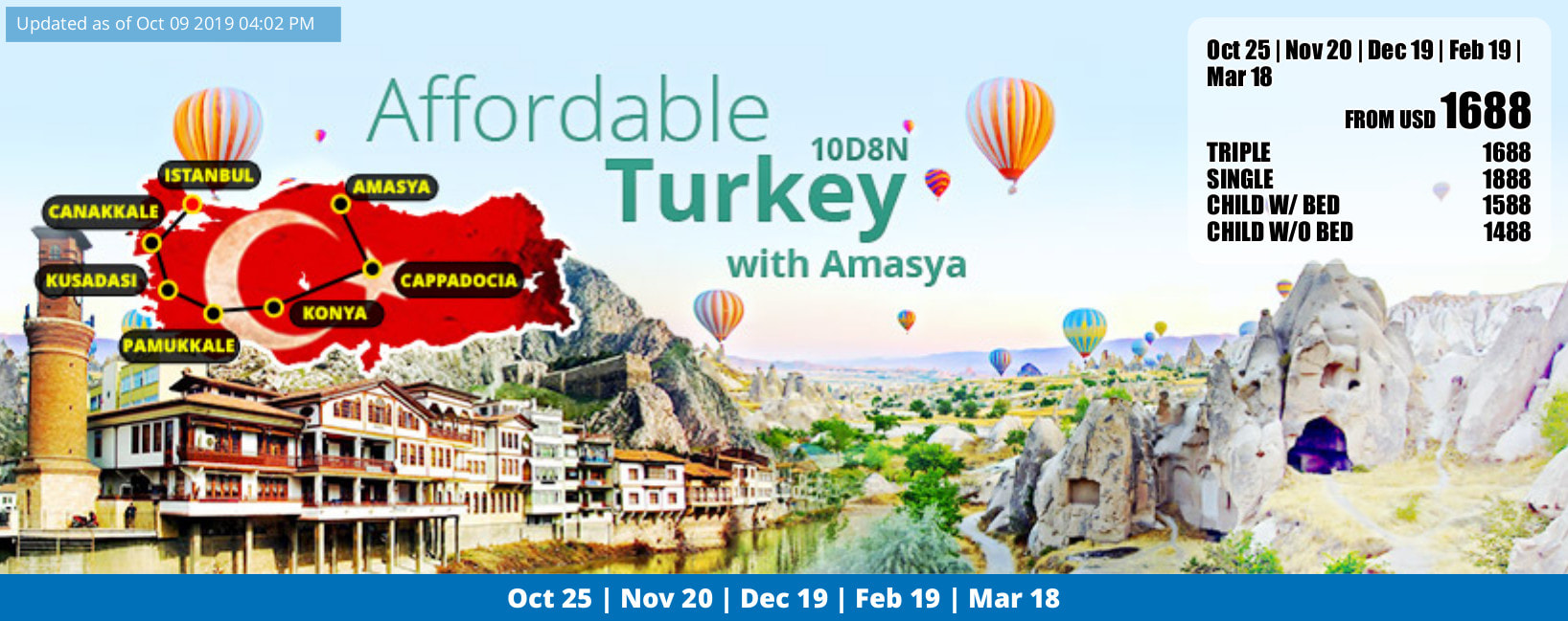 affordable turkey 2019-2020 flyer. click for detailed itinerary in jpg file