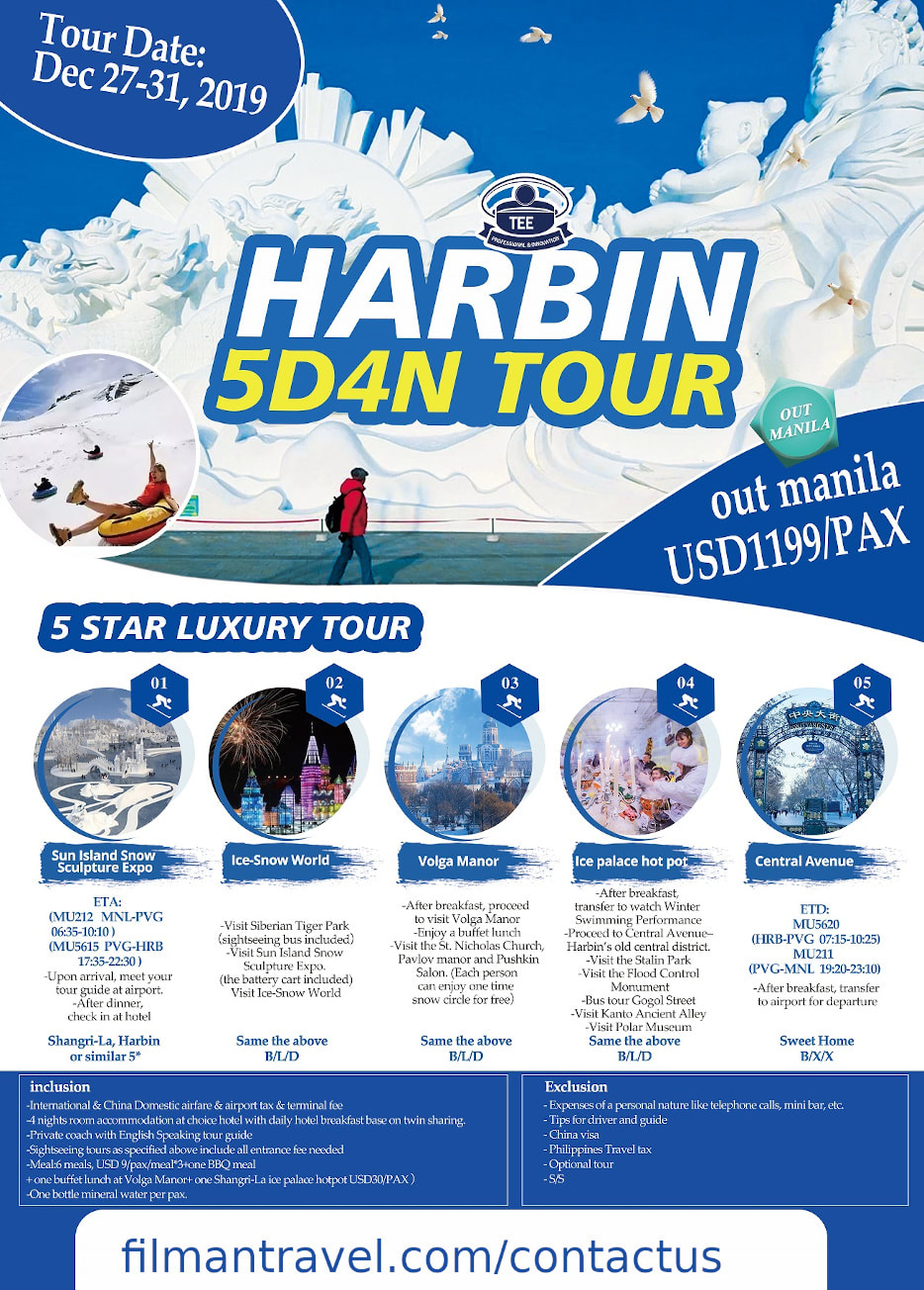harbin 5 days tour package dec 27 flyer image